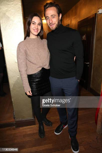 Gabriel Raab and his girlfriend Alina during the NdF after work press cocktail at Parkcafe on March 13 2019 in Munich Germany