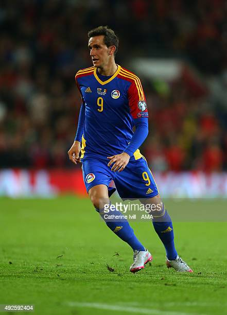 Gabriel Riera of Andorra during the UEFA EURO 2016 Qualifier match between Wales and Andorra at Cardiff City Stadium on October 13 2015 in Cardiff...