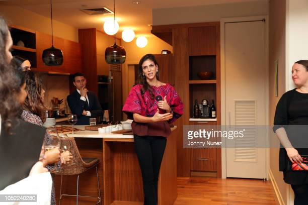Gabriel Rivera-Barraza, Alida Boer, and Ruth DeGolia attend the Mercado Global Special Supporter Dinner at a Private Residence on October 15, 2018 in...