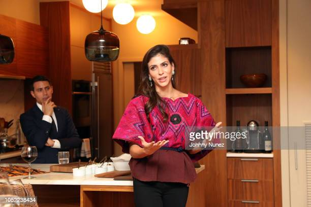 Gabriel Rivera-Barraza and Alida Boer attend the Mercado Global Special Supporter Dinner at a Private Residence on October 15, 2018 in New York City.