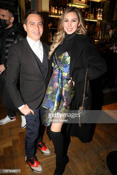 Gabriel Rivera-Barraza and Vanessa Velásquez attend Egla's Friendsgiving Day at Baby Brasa on November 24, 2020 in New York City.