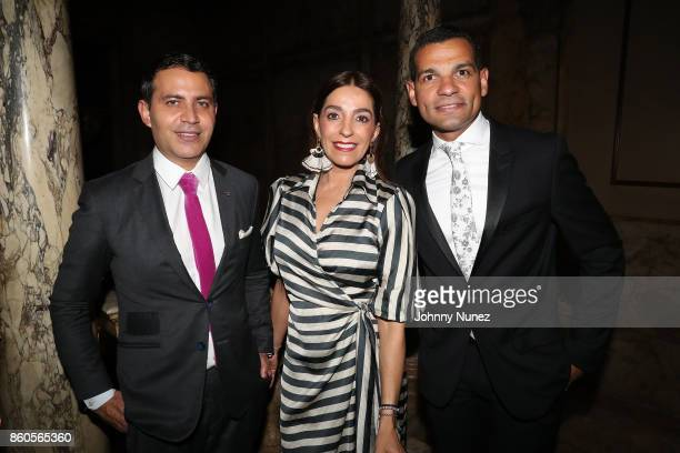 Gabriel RiveraBarraza Kika Rocha and Andy Checo Attend The 2017 HPRA Bravo Awards at Lotte New York Palace on October 11 2017 in New York City