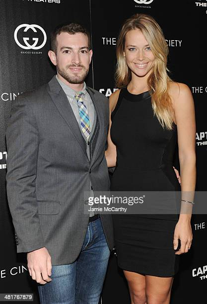 Gabriel Rocha and Hannah Ferguson attend The Cinema Society Gucci Guilty screening of Marvel's Captain America The Winter Soldier at Tribeca Grand...