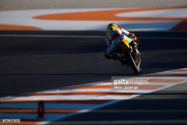 Gabriel Rodrigo of Argentina and RBA BOE Racing Team heads down a straight during the qualifying practice during the Comunitat Valenciana Grand Prix...