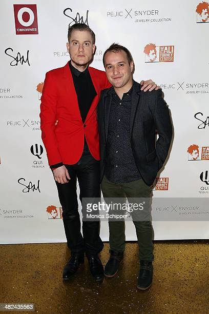 Gabriel Schillinger and Adam Butterfield attend the Pejic x Snyder Jewelry Line Launch Party at Gilded Lily on April 3 2014 in New York City