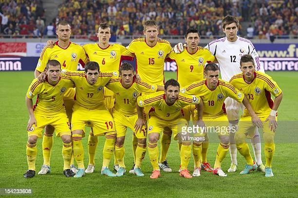 Gabriel Sebastian Tamas of Romania Vlad Iulian ChiricheÅŸ of Romania Nicolai Dorin Goian of Romania Ciprian Andre Marica of Romania goalkeeper...