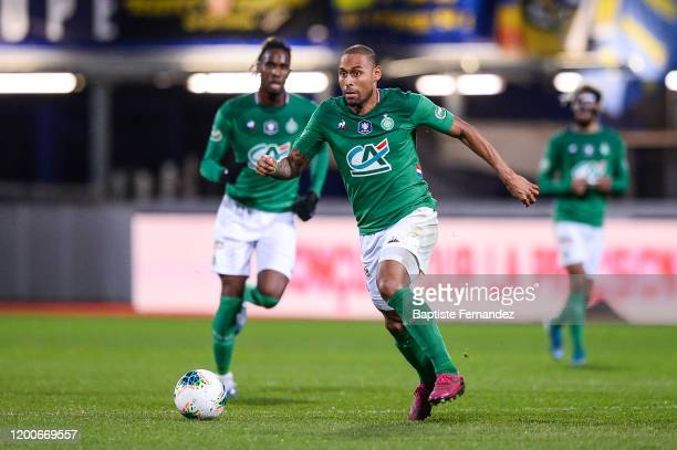 Gabriel SILVA of Saint Etienne during the French Cup Soccer match between Epinal and SaintEtienne on February 13 2020 at Stade Marcel Picot in Nancy...