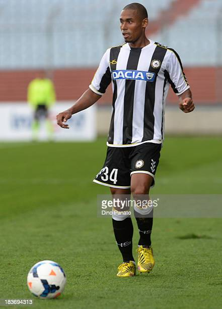 Gabriel Silva of Udinese Calcio in action during the Serie A match between Udinese Calcio and Cagliari Calcio at Stadio Friuli on October 6 2013 in...