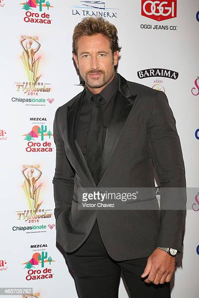 Gabriel Soto arrives at Premios TV y Novelas 2015 at Televisa San Angel on March 9 2015 in Mexico City Mexico