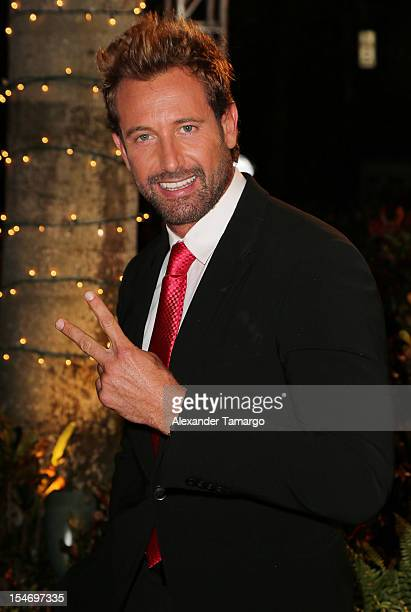 Gabriel Soto arrives at Sabado Gigante 50th Anniversary Celebration at Univision Headquarters on October 24 2012 in Miami Florida
