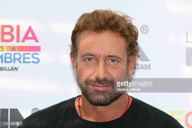 Gabriel Soto during a press conference to present the play 'La homofobia no es cosa de hombres' on May 6 2019 in Mexico City Mexico
