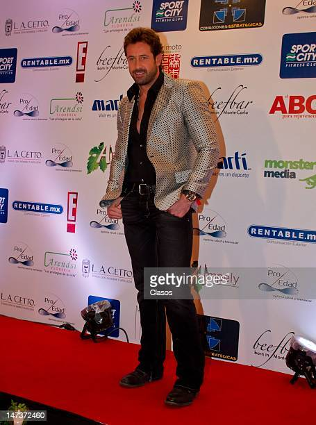 Gabriel Soto poses for a picture during the launch of the book The ABC To Rejuvenate at the Camino Real on June 27 2012 in Mexico City Mexico