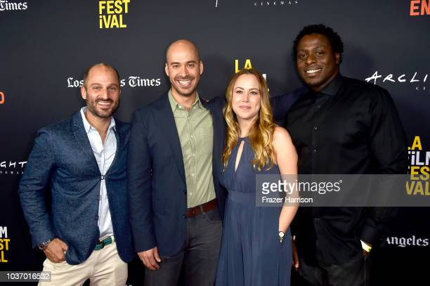 Gabriel TaraboulsyAlexander EmanueleCeeile MuriasKedian Asulei attend the 2018 LA Film Festival Opening Night Premiere Of 'Echo In The Canyon' at...