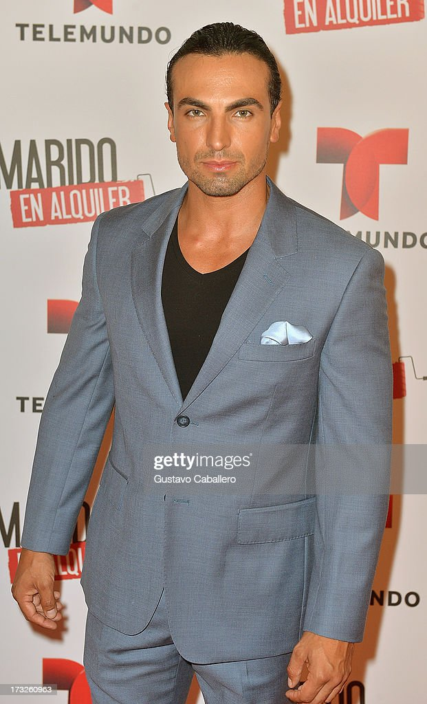 Gabriel Valenzuela attends Telemundos 'Marido en Alquiler' Presentation on July 10, 2013 in Miami, Florida.