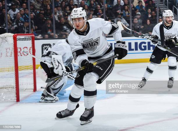 Gabriel Vilardi of the Los Angeles Kings skates during the second period of the game against the Colorado Avalanche at STAPLES Center on February 22...