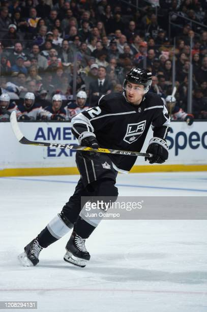 Gabriel Vilardi of the Los Angeles Kings skates during the second period against the Edmonton Oilers at STAPLES Center on February 23 2020 in Los...