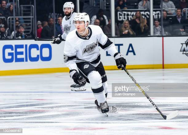 Gabriel Vilardi of the Los Angeles Kings skates during the third period of the game against the Colorado Avalanche at STAPLES Center on February 22...