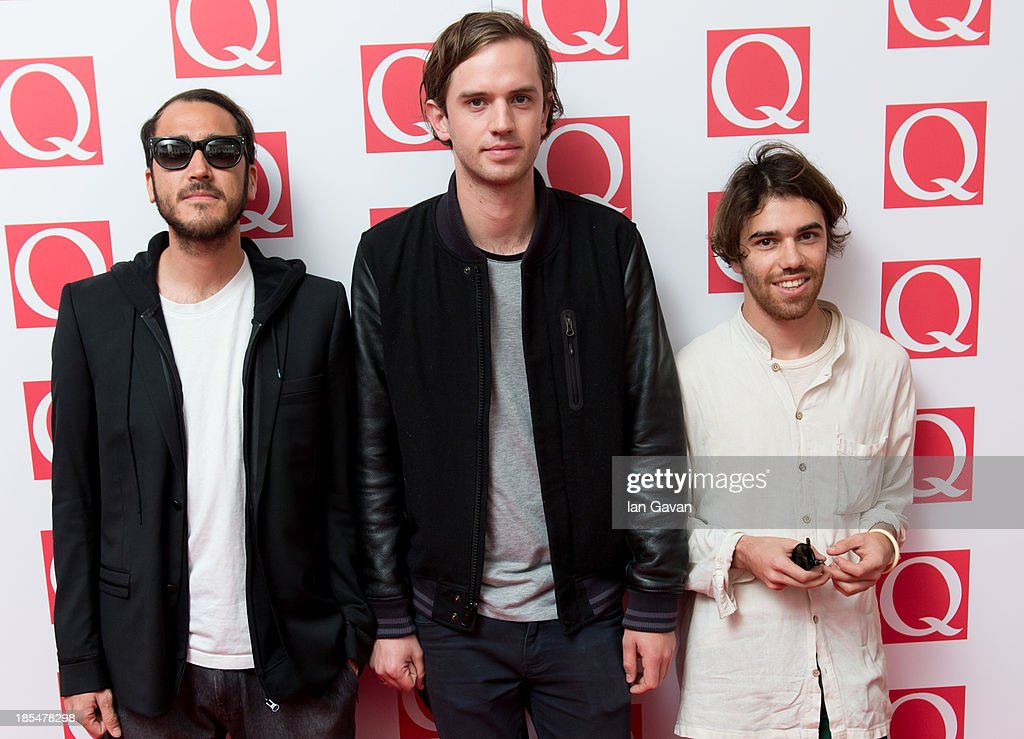Gabriel Winterfield, Jono Ma and Jack Freeman of Jagwar Ma attend The Q Awards at The Grosvenor House Hotel on October 21, 2013 in London, England.