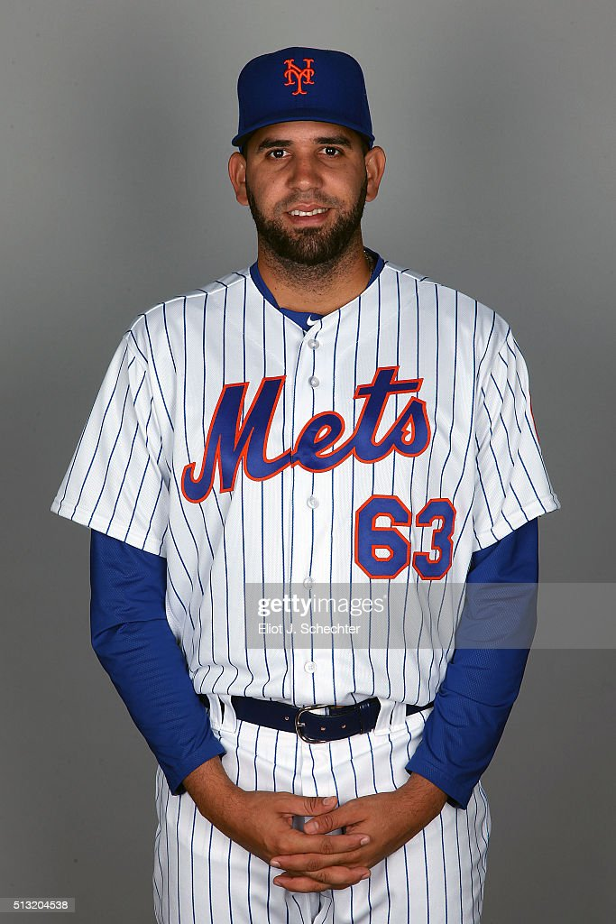 Gabriel Ynoa #63 of the New York Mets poses during Photo Day on Tuesday March 1, 2016 at Tradition Field in Port St. Lucie, Florida.