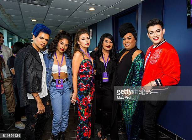 Gabriel Zamora Raye Boyce Rose Ciard Suzette Quintanilla Patrick Starrr Manny Mua at the MAC Selena World Premiere on September 30 2016 in Corpus...