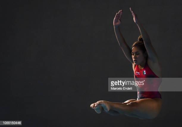 Gabriela Agundes Garcia of Mexico competes in the Women's 3m Springboard Preliminary during day 9 of Buenos Aires 2018 Youth Olympic Games at...