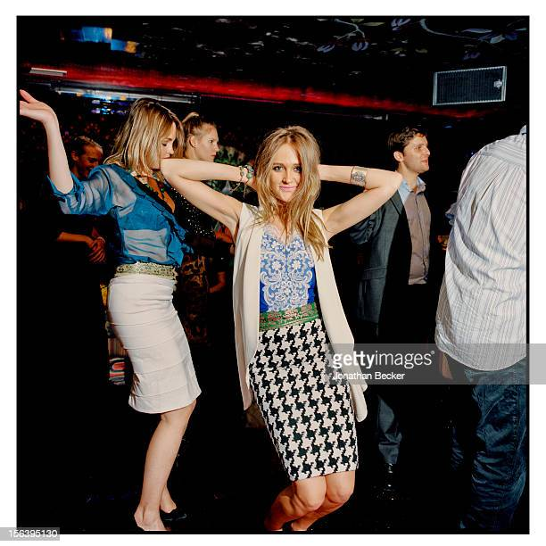 Gabriela Asquith and Helena Asquith are photographed at 5 Hertford Street, which is home to the nightclub Loulou's for Vanity Fair Magazine on June...