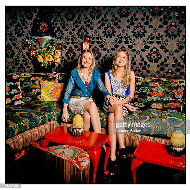 Gabriela Asquith and Helena Asquith are photographed at 5 Hertford Street which is the home of nightclub Loulou's for Vanity Fair Magazine on June 11...