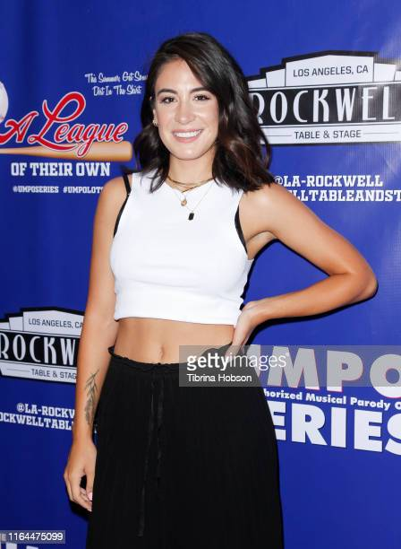 Gabriela Carrillo attends the Unauthorized Musical Parody of 'A League Of Their Own' media preview night at Rockwell Table and Stage on July 26 2019...