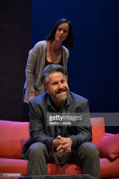 Gabriela de la Garza Moises Arizmendi as part of the play 'Between Pancho Villa and a Naked Woman' at Rafael Solana Theatre on March 6 2020 in Mexico...