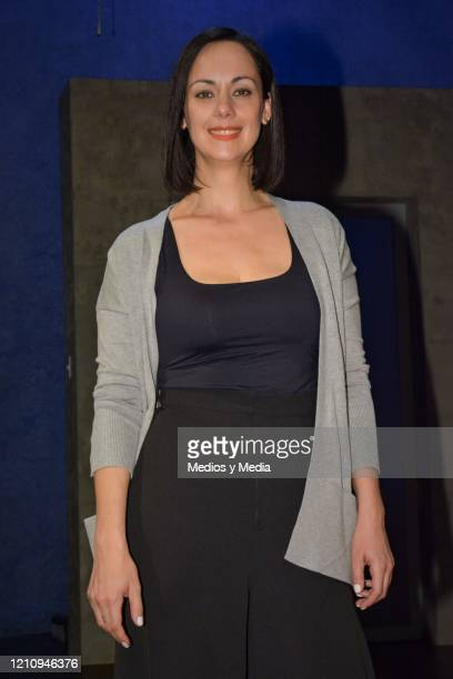 Gabriela de la Garza poses for photo as part of the play 'Between Pancho Villa and a Naked Woman' at Rafael Solana Theatre on March 6 2020 in Mexico...