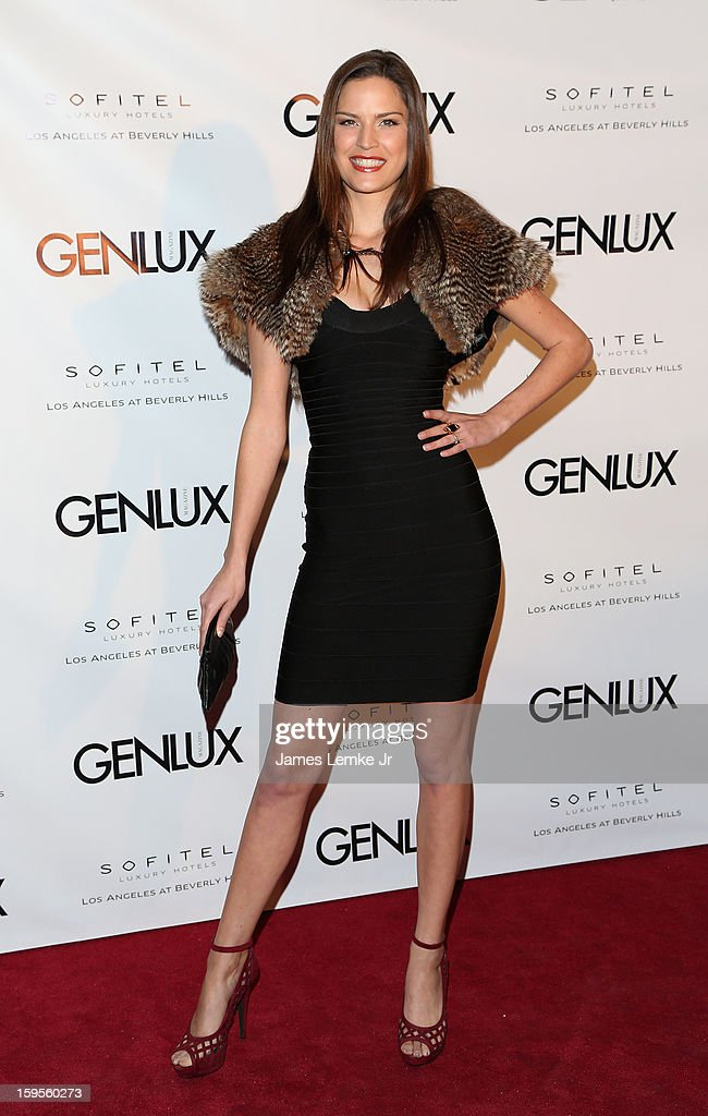 Gabriela Dias attends the Genlux Cover Girl Kristin Chenoweth Celebrates Opening of new bar Riviera 31 at The Sofitel L.A. on January 15, 2013 in Beverly Hills, California.