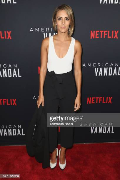 Gabriela Fresquez attends the premiere of Netflix's 'American Vandal' at ArcLight Hollywood on September 14 2017 in Hollywood California