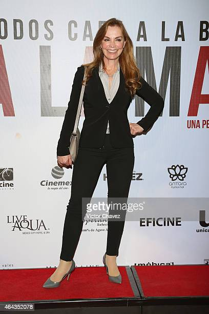 Gabriela Goldsmith attends A La Mala Mexico City premiere at Cinepolis Antara Polanco on February 24 2015 in Mexico City Mexico