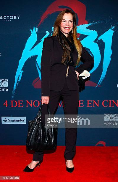 Gabriela Goldsmith poses during the premiere of the movie 'KM 312' on October 31 in Mexico City Mexico