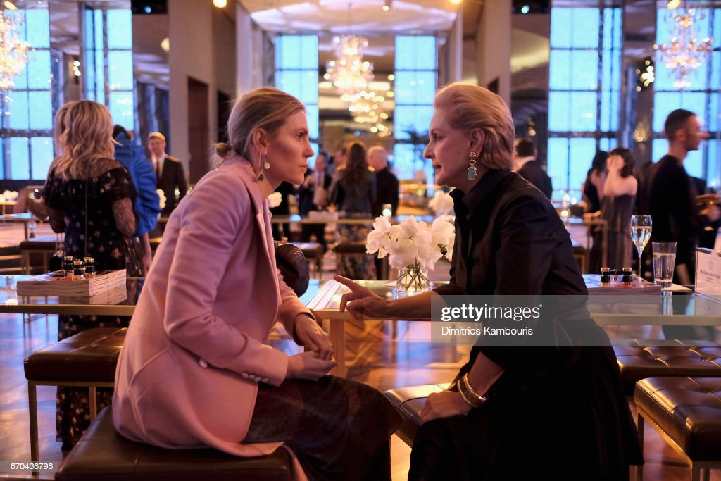 Gabriela Hearst and Carolina Herrera attend Harper's BAZAAR 150th Anniversary Event presented with Tiffany & Co at The Rainbow Room on April 19, 2017 in New York City.