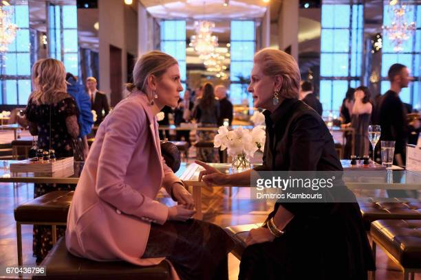 Gabriela Hearst and Carolina Herrera attend Harper's BAZAAR 150th Anniversary Event presented with Tiffany Co at The Rainbow Room on April 19 2017 in...