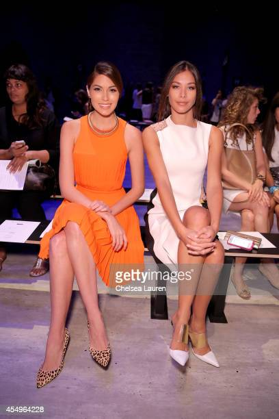 Gabriela Isler and Dayana Mendoza attend the Angel Sanchez fashion show during MercedesBenz Fashion Week Spring 2015 at The Pavilion at Lincoln...