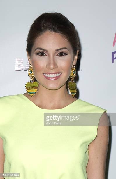 Gabriela Isler attends Amigos For Kids Annual Fundraiser 2016 Miami Celebrity Domino Night at Jungle Island on June 18 2016 in Miami Florida