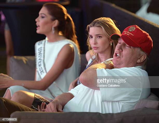 Gabriela Isler Ivanka Trump and Donald Trump attend GREY GOOSE Vodka and the Cadillac Championship Toast Travie McCoy at the Trump National Doral on...
