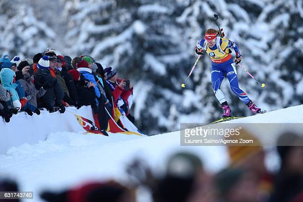 Gabriela Koukalova of Czech Republic takes 2nd place during the IBU Biathlon World Cup Men's and Women's Pursuit on January 15 2017 in Ruhpolding...