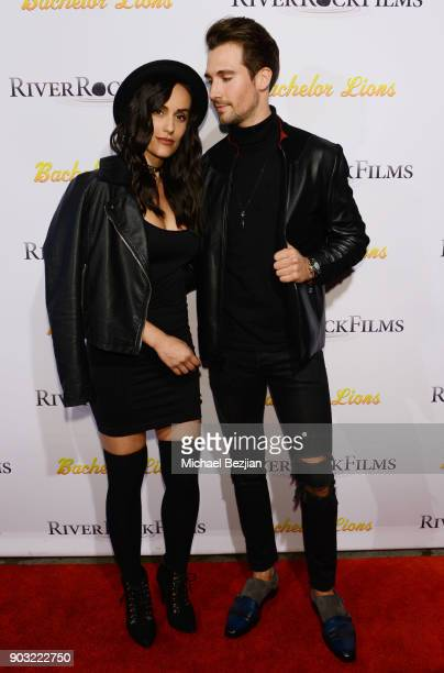 Gabriela Lopez and James Maslow arrive at Bachelor Lions Film Premiere on January 9 2018 in Hollywood California