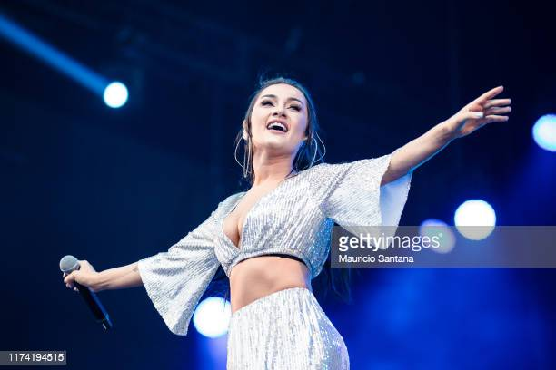 Gabriela Melim of Melim performs live on stage during day 7 of Rock In Rio Music Festival at Cidade do Rock on October 6 2019 in Rio de Janeiro Brazil