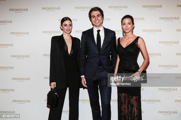Gabriela Palatchi Gallardo Alberto Palatchi Gallardo and Marta Palatchi Gallardo attend the Pronovias Show during Barcelona Bridal Fashion Week 2017...