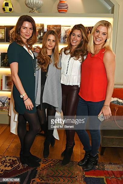 Gabriela Peacock Irene Forte Sophie Stanbury and Chelsy Davy attend the launch of Forte Organics hosted by Irene Forte at Brown's Hotel a Rocco Forte...