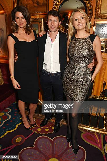 Gabriela Peacock, James Blunt and Sofia Wellesley attend the launch of GP Nutrition Supplements, a collection of five premium nutritional programmes...