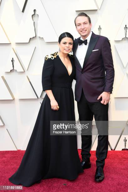 Gabriela Rodriguez and Nicolás Celis attend the 91st Annual Academy Awards at Hollywood and Highland on February 24 2019 in Hollywood California