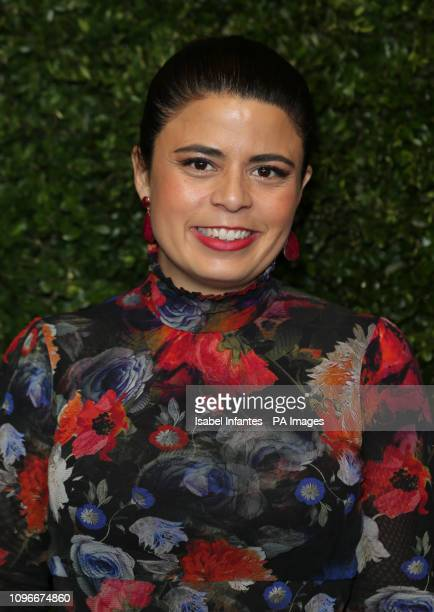 Gabriela Rodriguez arrives for the Charles Finch x Chanel preBafta dinner in Mayfair London