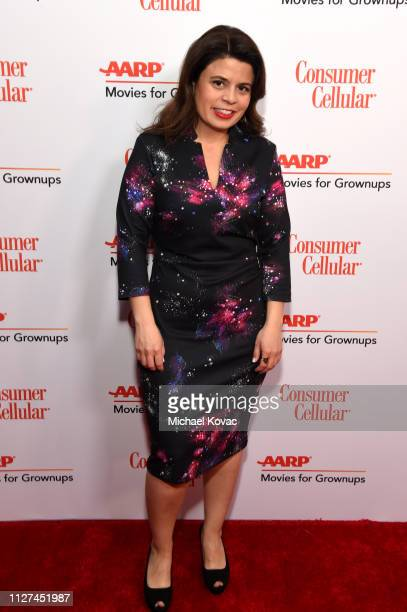 Gabriela Rodriguez attends AARP The Magazine's 18th Annual Movies for Grownups Awards at the Beverly Wilshire Four Seasons Hotel on February 04 2019...