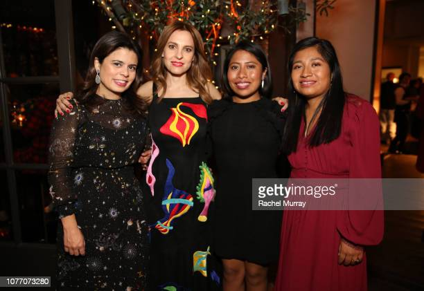 Gabriela Rodriguez Marina De Tavira Nancy Garcia Garcia and Yalitza Aparicio attend the ROMA QA and Reception at Spago on December 03 2018 in Beverly...
