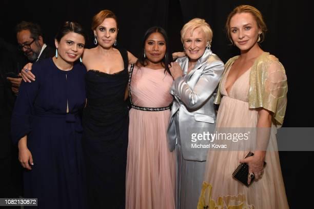 Gabriela Rodriguez Marina De Tavira Yalitza Aparicio Glenn Close and Annie Maude Starke attend the 24th annual Critics' Choice Awards at Barker...